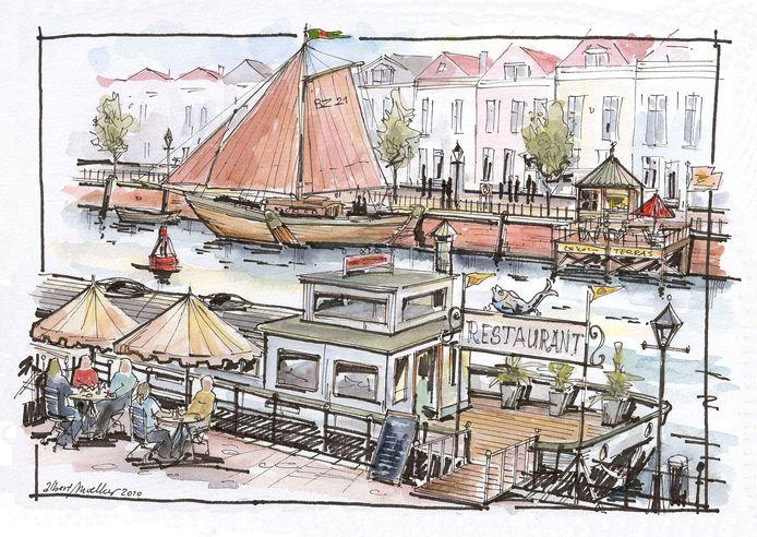 In de toekomstvisie 2035 blijft Bergen op Zoom dromen over terugkeer van het water in de Kaai.