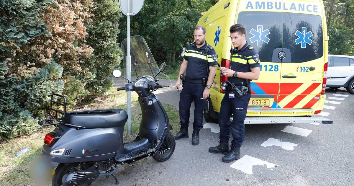 Vrouw gewond door ongeluk met scooter in Mill.