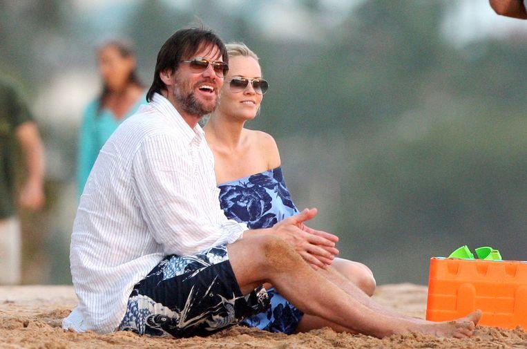 Carrey met zijn ex Jenny McCarthy. Beeld PHOTO_NEWS