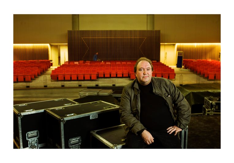 Mike Naert van concertzaal Het Depot in Leuven.  Beeld Alex Vanhee