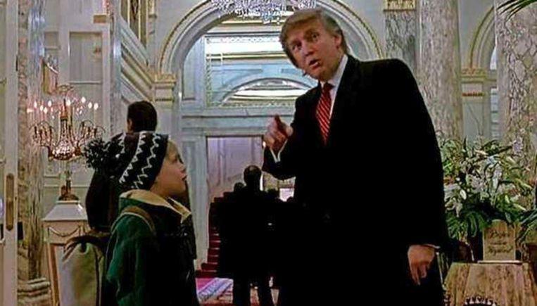Donald Trump in 'Home Alone'. Beeld YouTube