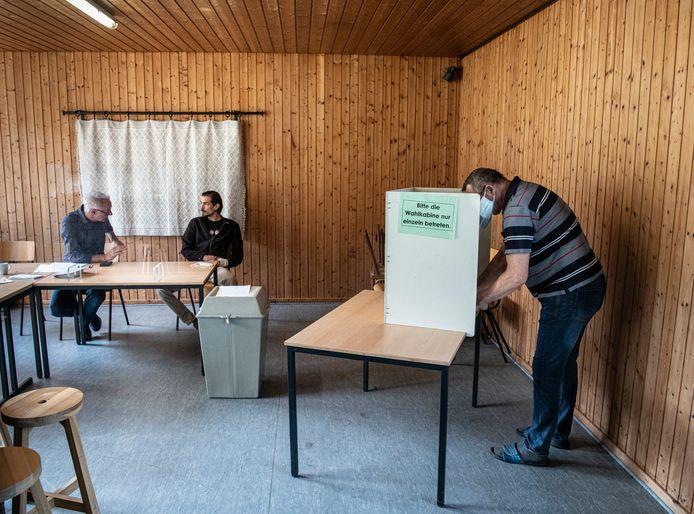 Het stembureau in het dropje Grafwegen.