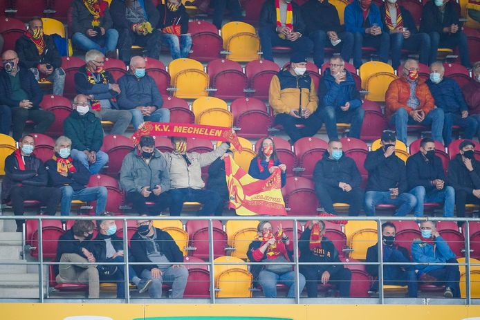 Supporters van KV Mechelen.