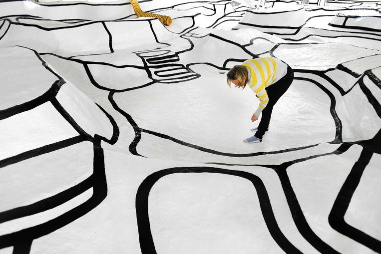 Het kunstwerk Jardin d'email van Jean Dubuffet in de beeldentuin van Museum Kröller-Müller. Beeld ANP