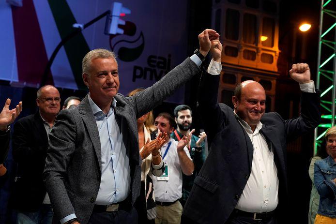 De partij van Iñigo Urkullu deed het goed, al zal er moeten gezocht worden naar een coalitiepartner.