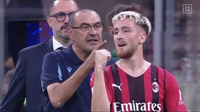 """Saelemaekers in de clinch met Lazio-coach Sarri en smeert hem rode kaart aan: """"Je moet respect tonen!"""""""