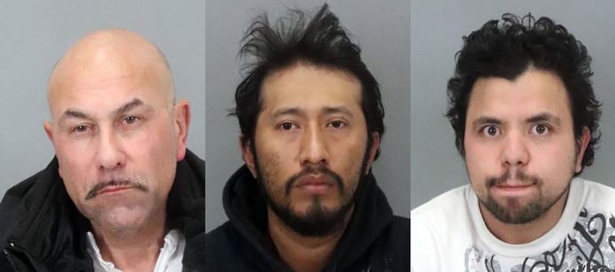 Albert Thomas Vasquez, Antonio Quirino Salvador et Hediberto Gonzalez Avarenga.