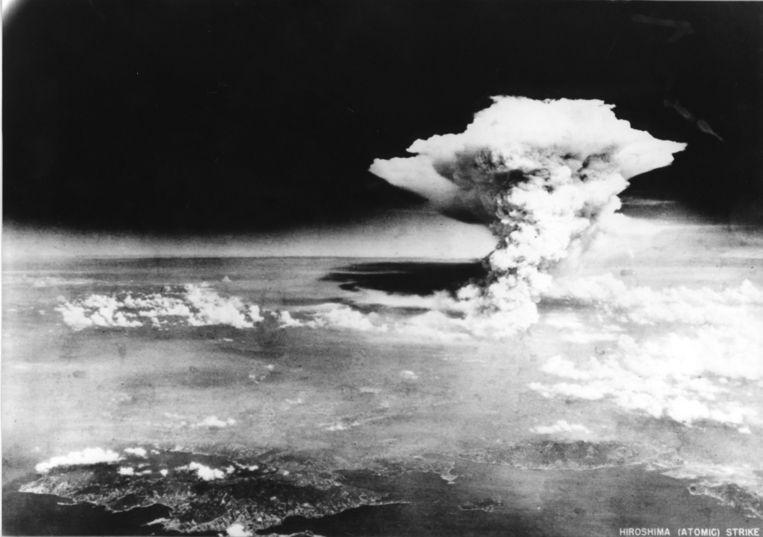 Beeld van de atoombom die op Hiroshima werd gedropt. Beeld AFP