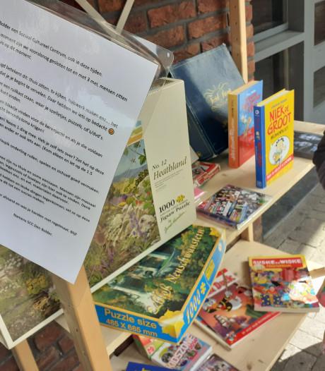 Nieuw: ruilkast bij Den Bolder ook voor puzzels, spellen en knutselwerk