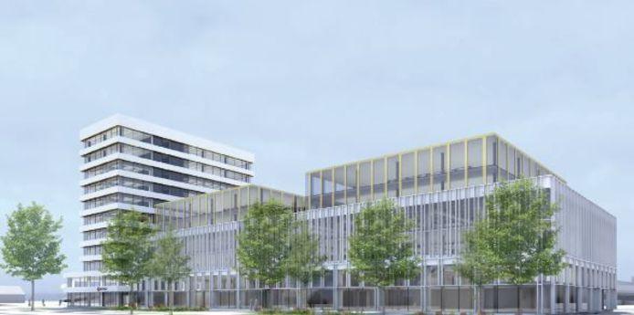 Zo gaat het voormalige postsorteercentrum aan de Westerlaan in Zwolle eruit zien na de metamorfose