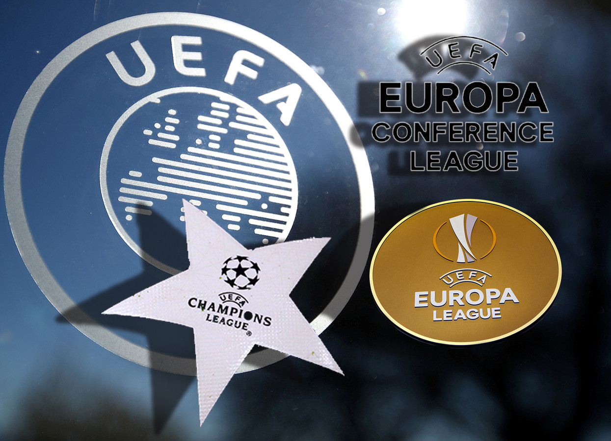 UEFA: Champions League, Europa League én de Conference League.