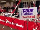 Protest op markt Haaksbergen, non-food kramen willen open