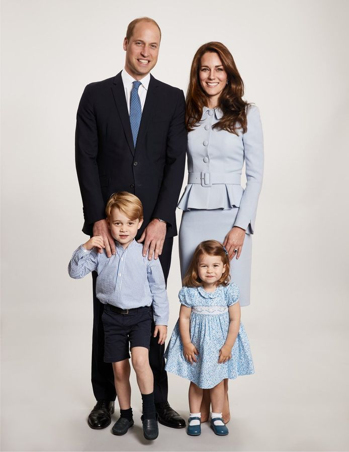 Prins William, Kate MIddleton en hun kinderen George en Charlotte