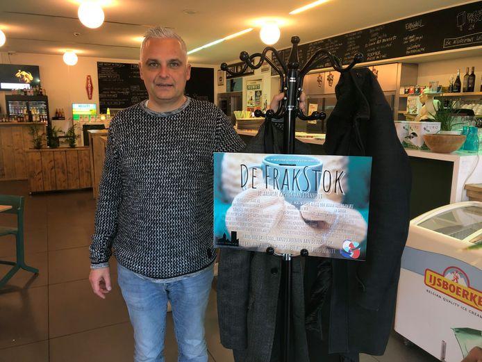 Jeroen Ooms bij de Frakstok in café Barzoen
