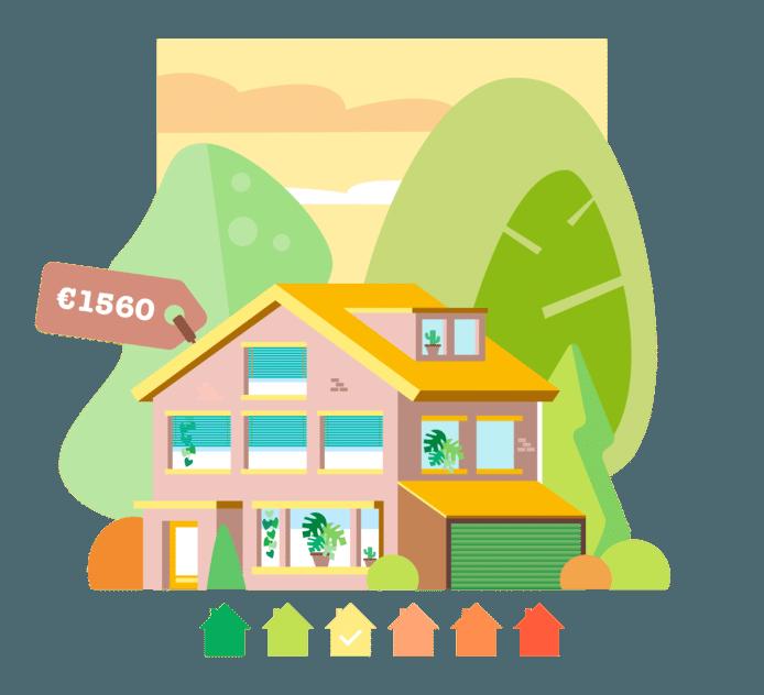 De energierekening van Suren komt hoger uit dan gemiddeld, maar zijn huis wordt wel duurzaam verwarmd.