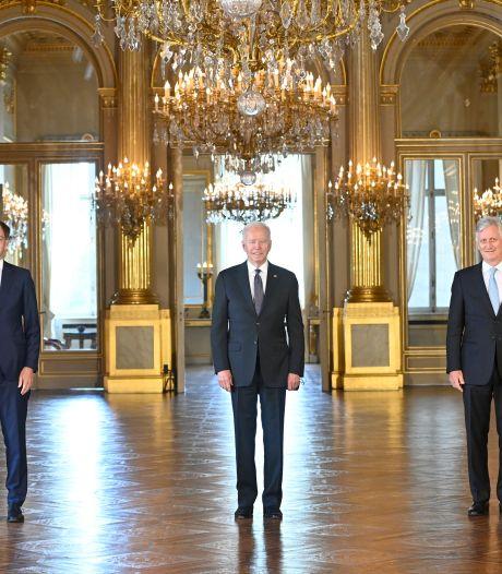 Le roi Philippe et Alexander De Croo ont reçu Joe Biden