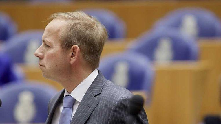 SGP-leider Kees van der Staaij in de Tweede Kamer. Beeld anp
