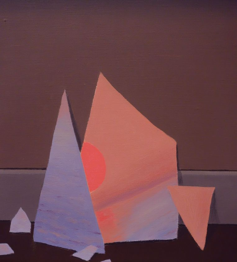 Detail: René Magritte, Le Monde des Images, 1950, olieverf op doek, 100 x 80,6 cm Beeld privécollectie