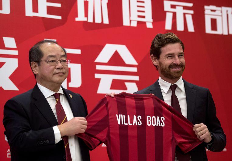 Villas-Boas bij zijn aanstelling bij Sjanghai in november 2016.