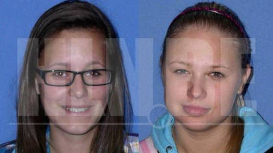 De omgekomen studentes: Sara Gibadlo (links) (19) en Dace Zarina (22).
