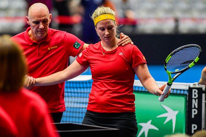 Après avoir eu trois balles de match, Ysaline Bonaventure s'est inclinée dans la deuxième rencontre contre Yulia Putintseva: difficile à digérer...