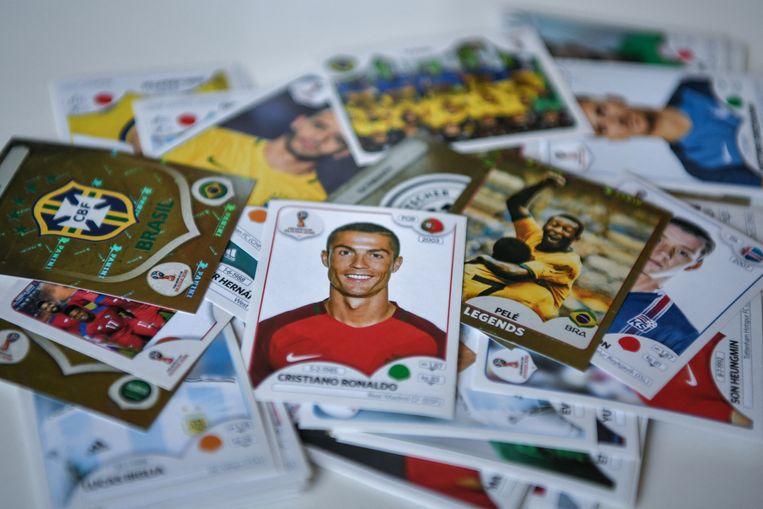 Panini: plakplezier met Cristiano Ronaldo en co. Beeld AFP