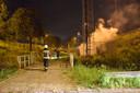 Een zendmast langs de Bloemendaalseweg tussen Waddinxveen en Gouda werd vorig jaar in brand gestoken. Dit is een van de 26 branden waarvoor geen verdachten zijn opgepakt.