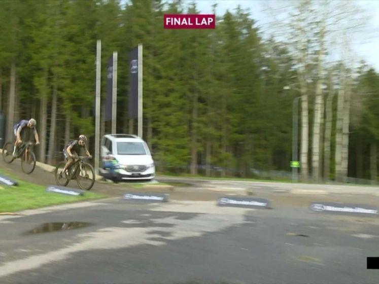Mathieu van der Poel wint in Nove Mesto