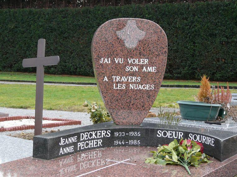 Het graf van Sœur Sourire. Beeld