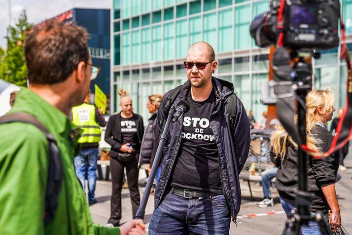 Demonstratie op het 18 Septemberplein in Eindhoven.