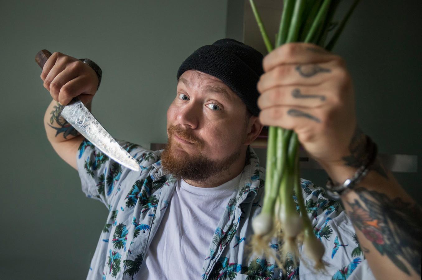 You Tube kok Nick Toet van het kanaal Eten met Nick. (Voorburg 18-06-21) Foto:Frank Jansen