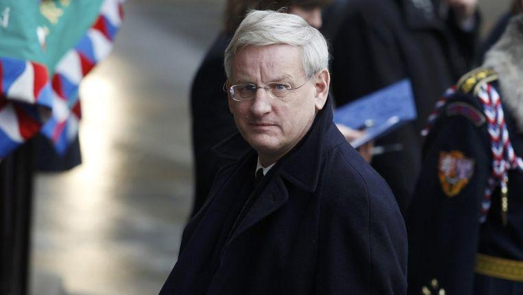 De Zweedse minister van Buitenlandse Zaken Carl Bildt Beeld reuters