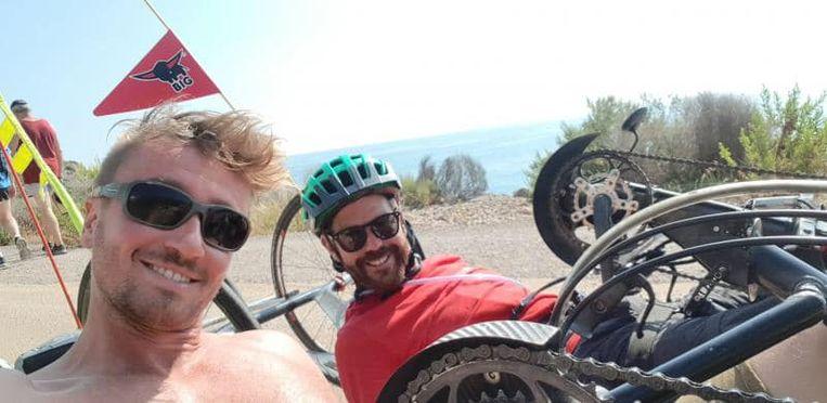 Frank Van Linden en Jelle Veyt onderweg naar Gibraltar