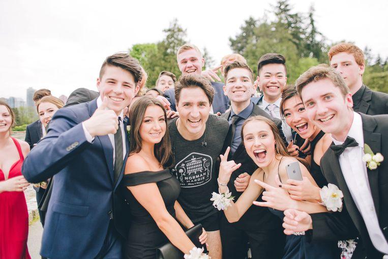 Toen Justin Trudeau in 2015 premier van Canada werd, werden zelfs T-shirts gedrukt met het opschrift 'PMILF'. Beeld REUTERS