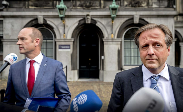 Gert-Jan Segers (CU) en Alexander Pechtold (D66)
