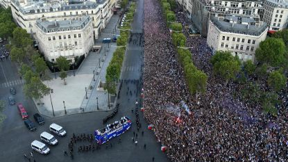 500.000 Fransen vieren hun wereldkampioenen