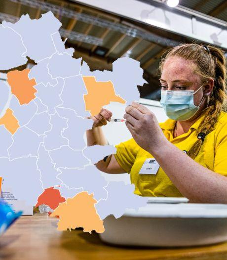 KAART | Besmettingscijfers in Oost-Nederland stijgen tegen landelijke trend in, Brummen valt vooral op