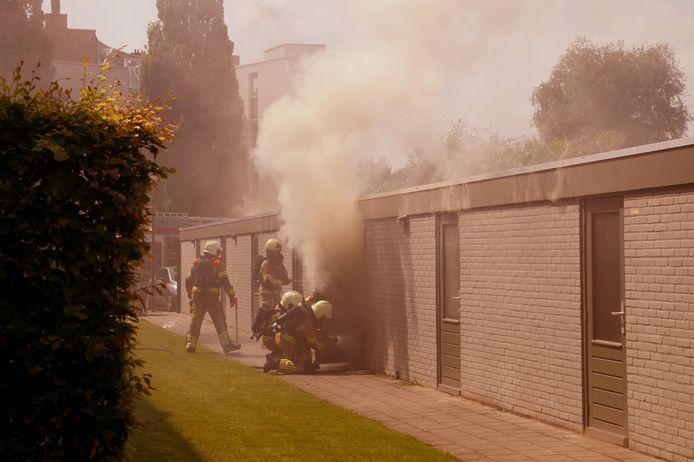 Brand in een schuur in Sprang-Capelle.
