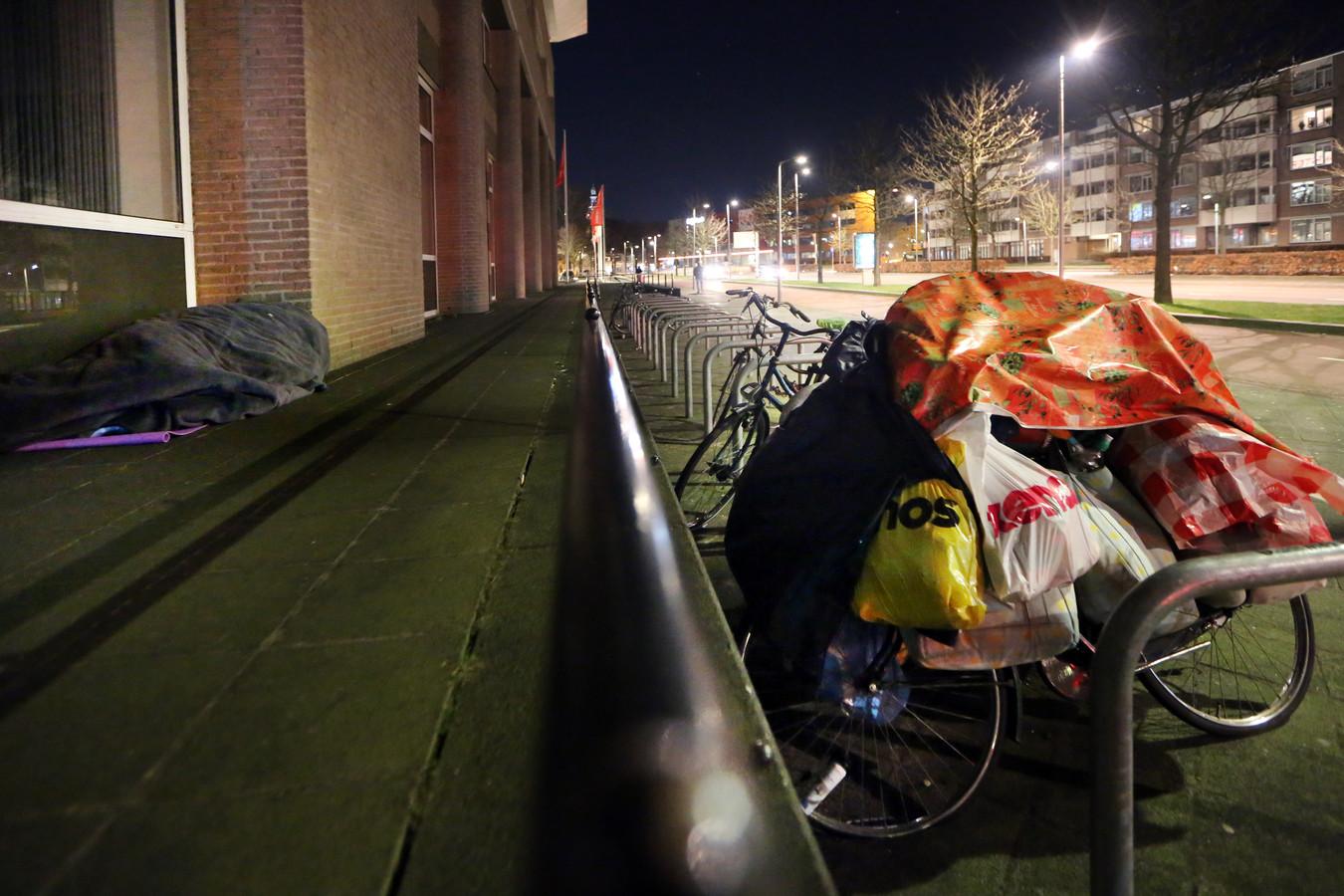 Er zijn daklozen in Breda die er de voorkeur aan geven buiten te slapen