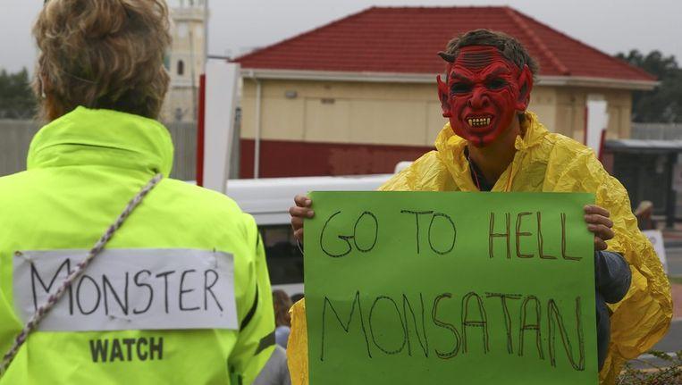 Protestactie in het Zuid-Afrikaanse Kaapstad. Beeld EPA
