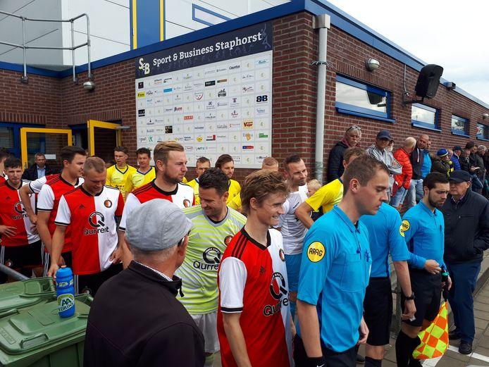 Ruim een jaar geleden speelde Staphorst al tegen de amateurtak van Feyenoord, toen in de nacompetitie voor promotie naar de derde divisie.