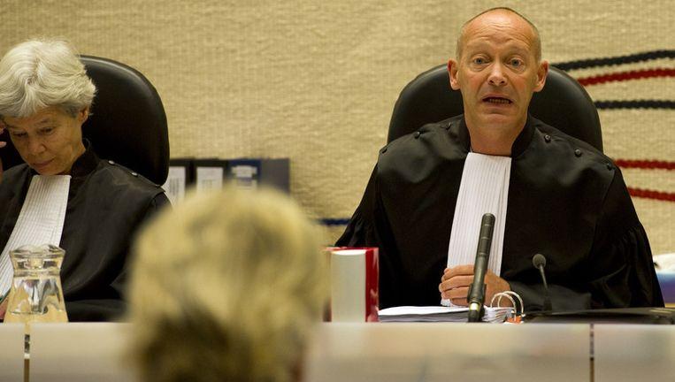 Jan Moors, voorzitter van de rechtbank in Amsterdam (rechts). © anp Beeld