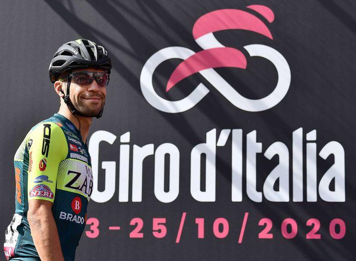 Vini Zabu debuteerde vorig jaar in de Giro. Giovanni Visconti (foto) rijdt inmiddels niet meer voor de ploeg.