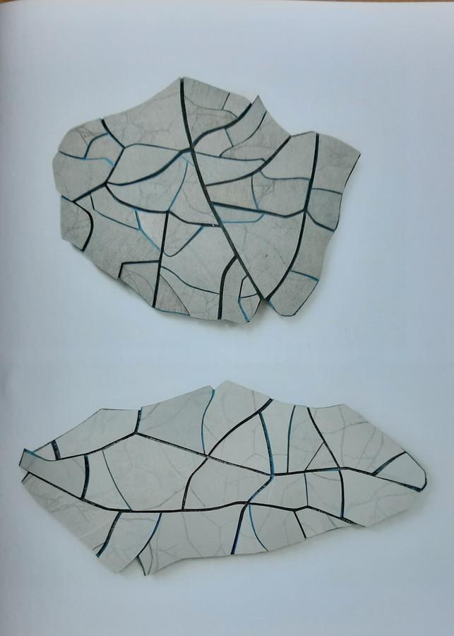 Werk van Leonie van Santvoort als onderdeel van het project 'De lijn waaiert uit'