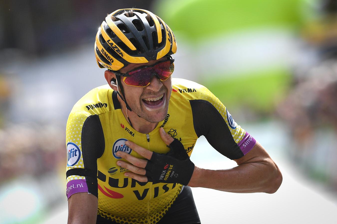 Laurens De Plus na zijn zege in de laatste etappe van de Binckbank Tour, in augustus 2019.