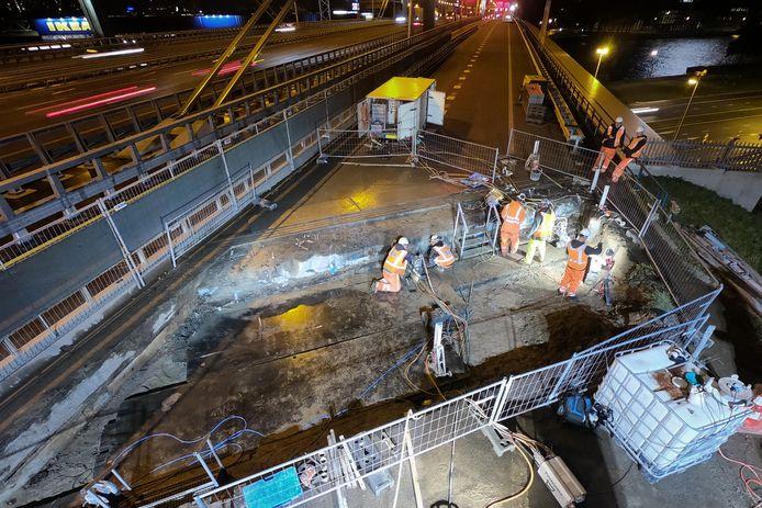 Werkzaamheden op A12 bij Galecopperbrug in 2019.
