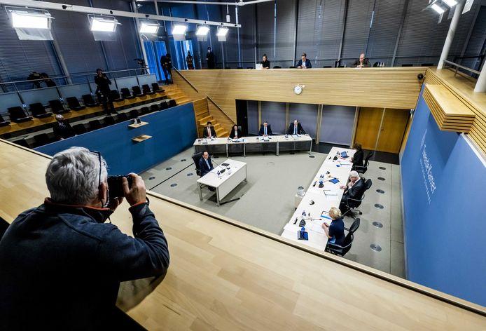 Gerard Blankestijn, voormalig directeur Toeslagen bij de Belastingdienst (2011-2018), tijdens de derde dag van de hoorzittingen van de tijdelijke commissie die onderzoek doet naar problemen rond de fraudeaanpak bij de kinderopvangtoeslag.