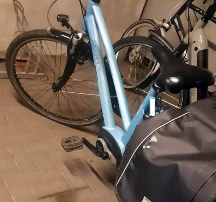 Een van de gestolen fietsen die de politie aantrof in de schuur van de verdachte.