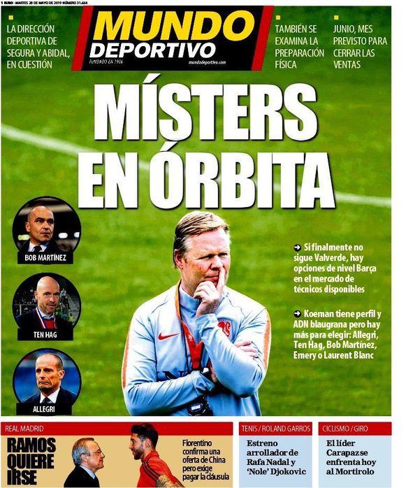 Mundo Deportivo ziet dan weer nog enkele andere kandidaten.