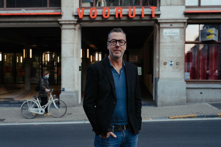 Franky Devos, directeur van Kunstencentrum Vooruit. Volgens hem is 'De Vooruit' te weinig onderscheidend.  Beeld Damon De Backer